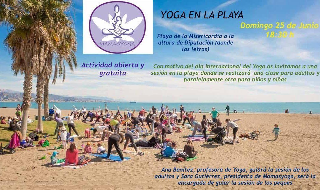 Yoga en la Playa con MamásYoga, 25 junio Málaga