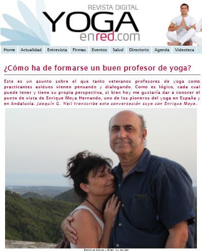 ¿Cómo ha de formarse un buen profesor de yoga? Conversación entre Enrique Moya y Joaquín G Weil, en yogaenred.com