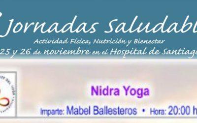 IAYoga en el V Jornadas Saludables de Úbeda. Gracias a María Isabel Ballesteros. Nidra Yoga