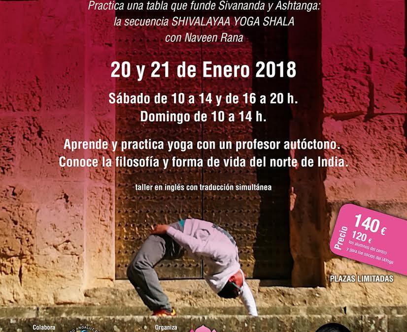"Taller ""Hatha Yoga en estado puro"" con Naveen Rana – Córdoba. Centro Anahata.  sábado 20 y domingo 21 de enero"