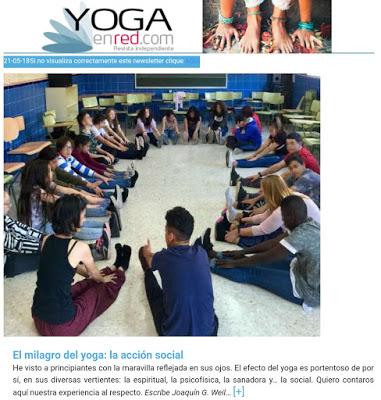 """""""El milagro del yoga: la acción social"""" Artículo completo de Joaquín G Weil publicado en yogaenred.com"""