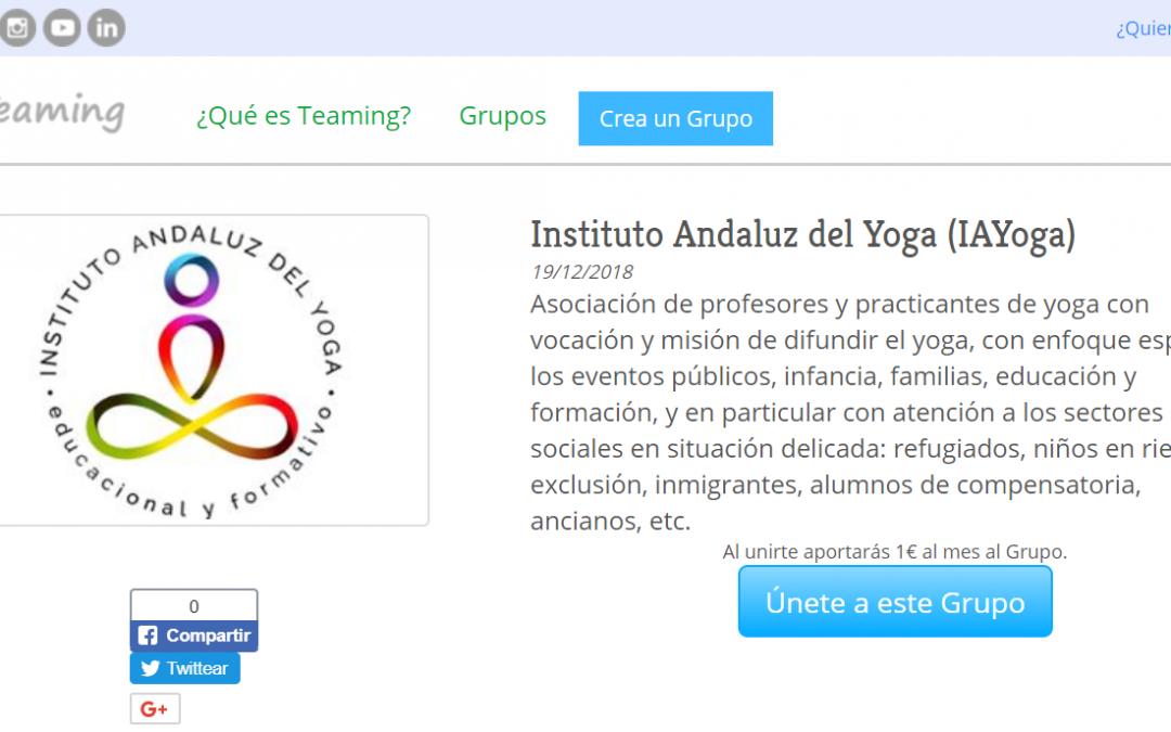 ¿Quieres ayudarnos con 1€ que servirá integro para nuestras actividades de responsabilidad social y difusión del yoga?