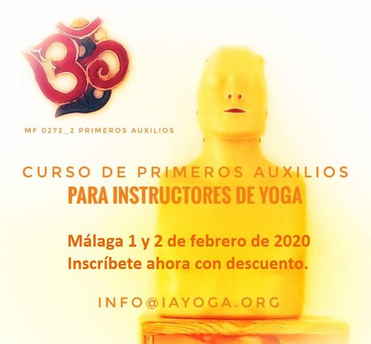 Curso de Primeros Auxilios para Instructores de Yoga, 1 y 2 de feb, Málaga