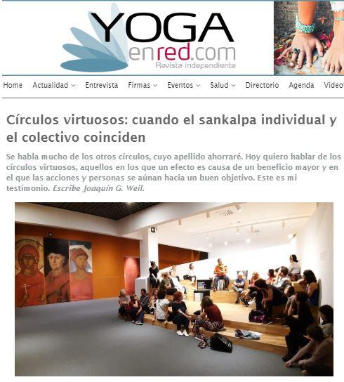 """""""Círculos virtuosos: cuando el sankalpa individual y el colectivo coinciden"""" puedes leer el artículo completo de Joaquín G Weil en Yoga en Red"""