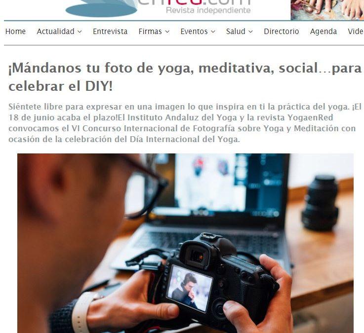 """En Yoga en Red: """"¡Mándanos tu foto de yoga, meditativa, social…para celebrar el DIY!"""""""