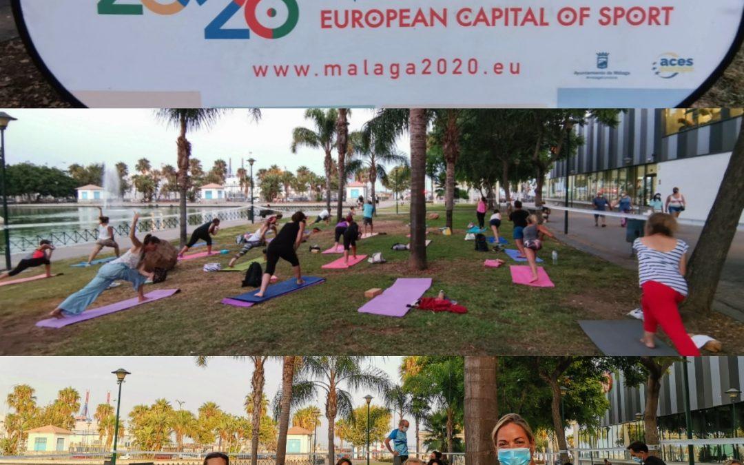 """FOTOS, Gracias por participar, gracias a l@s soci@s del IAYoga y gracias al Área de Deporte del Ayuntamiento de Málaga. """"Yoga: energía de grupo"""""""
