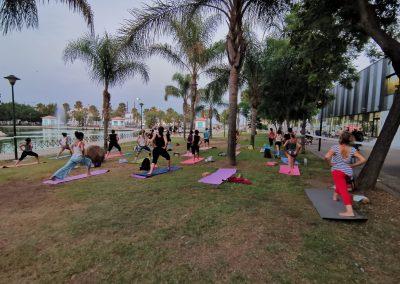 04 Yoga IAYoga Área Deporte Ayuntamiento de Málaga 2020 Verano Deportivo